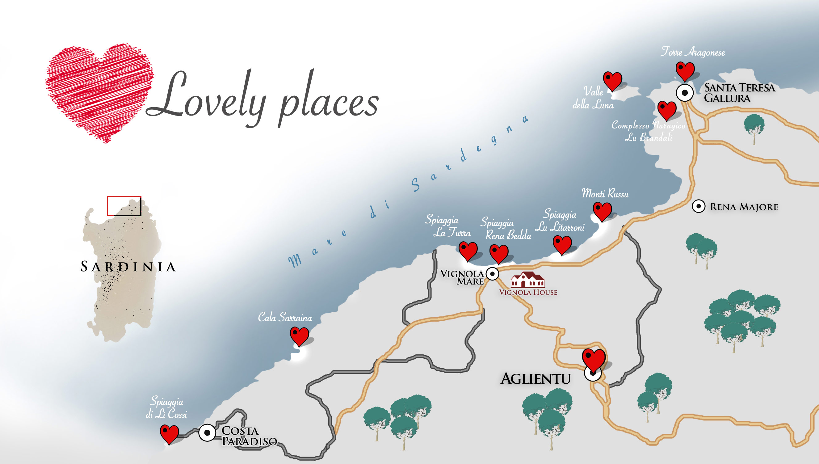 Lovely Places Map